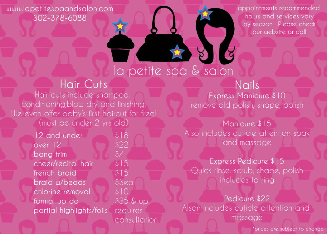 La Petite Spa and Salon: La Petite Spa & Salon Service Menu