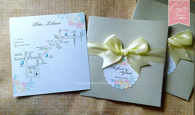Elegant and Soft Wedding Card & Akad Nikah