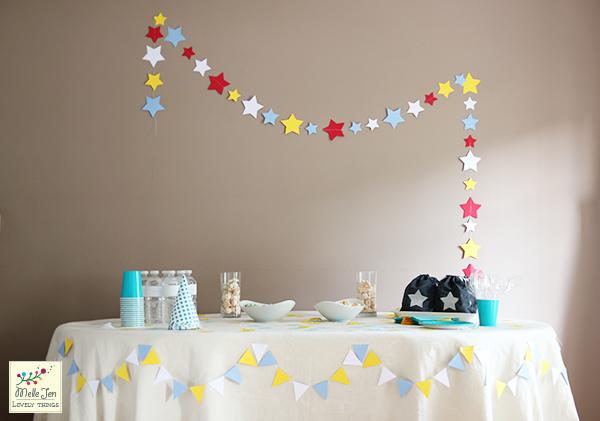 Mademoiselle Jen : Guirlande étoile en papier - exemple