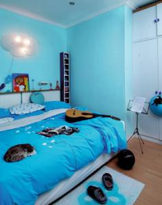 cat kamar tidur minimalis warna biru: Cat kamar tidur minimalis warna biru kamar tidur minimalis warna