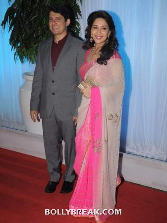 madhuri dixit nene and Ram Nene - (3) - Couples at Esha Deol's Wedding Reception