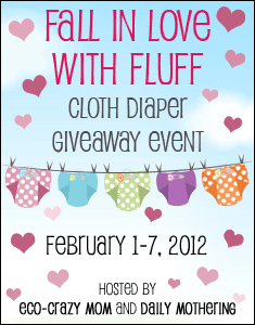 Fall In Love WIth Fluff - Valentine's Day Cloth Diaper Giveaway Event