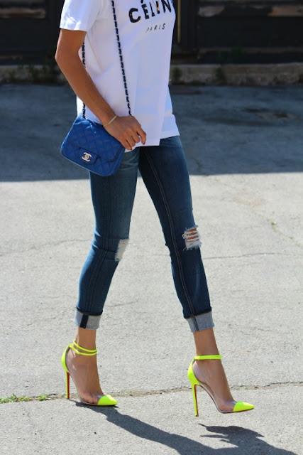 fashion neon heels
