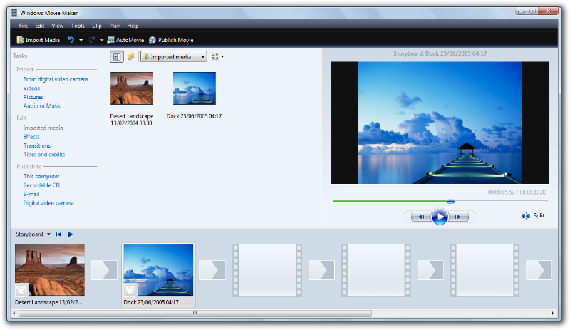 video windows: