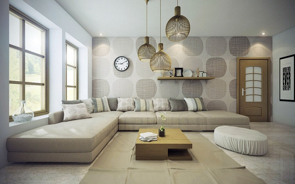 urban living room. The untamed tones in this sector carpet are similar to the pixels on a PC  monitor also build entire areas sense suddenly present as well stylish Charming Urban Living Room Luhomes