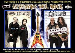 fiesta de presentación del Leyendas del Rock 2012