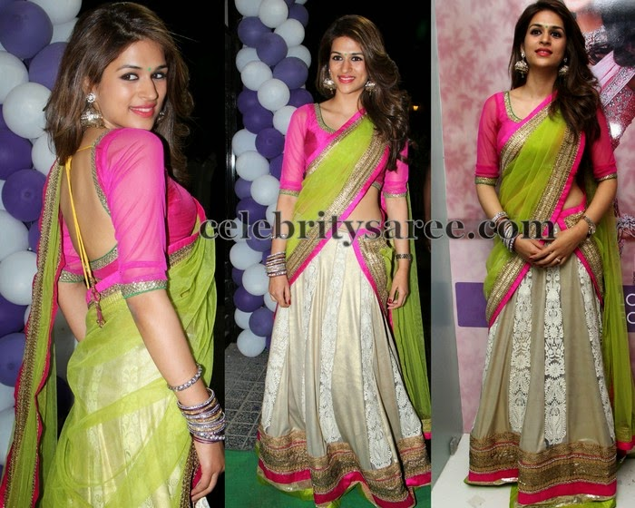 Shradda Das Pastel Color Half Saree