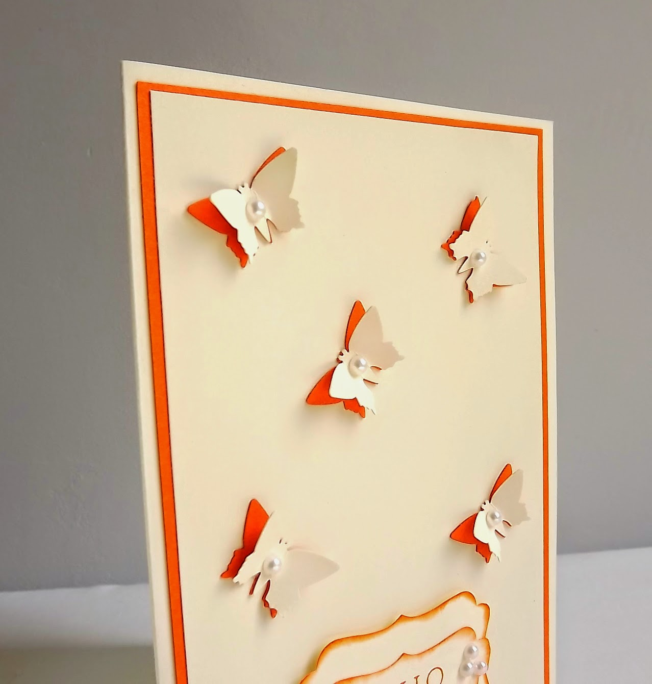 Stampin Up! butterfly punch card
