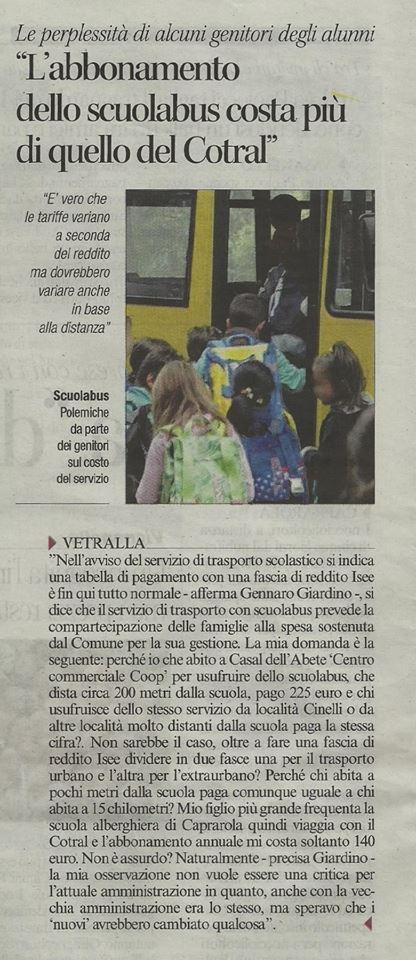 Scuola Bus costa più di un pullman di linea extraurbana