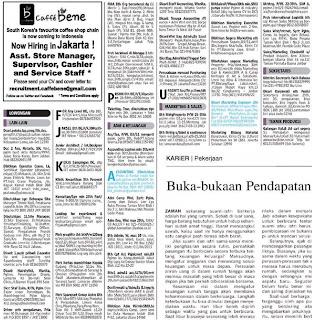 Lowongan kerja koran kompas Jumat 15 Maret 2013