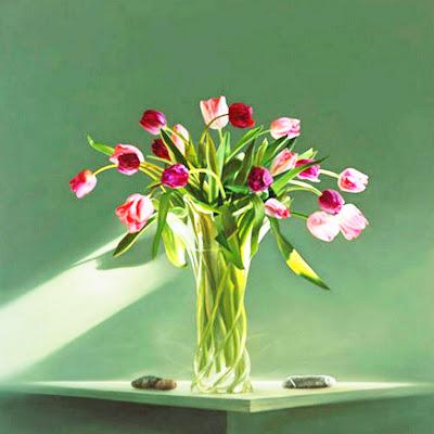 pintura-de-flores-al-oleo