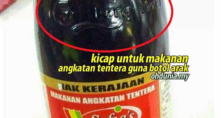 Kicap Makanan Angkatan Tentera Malaysia 'Recycle' Dari Botol Arak !..