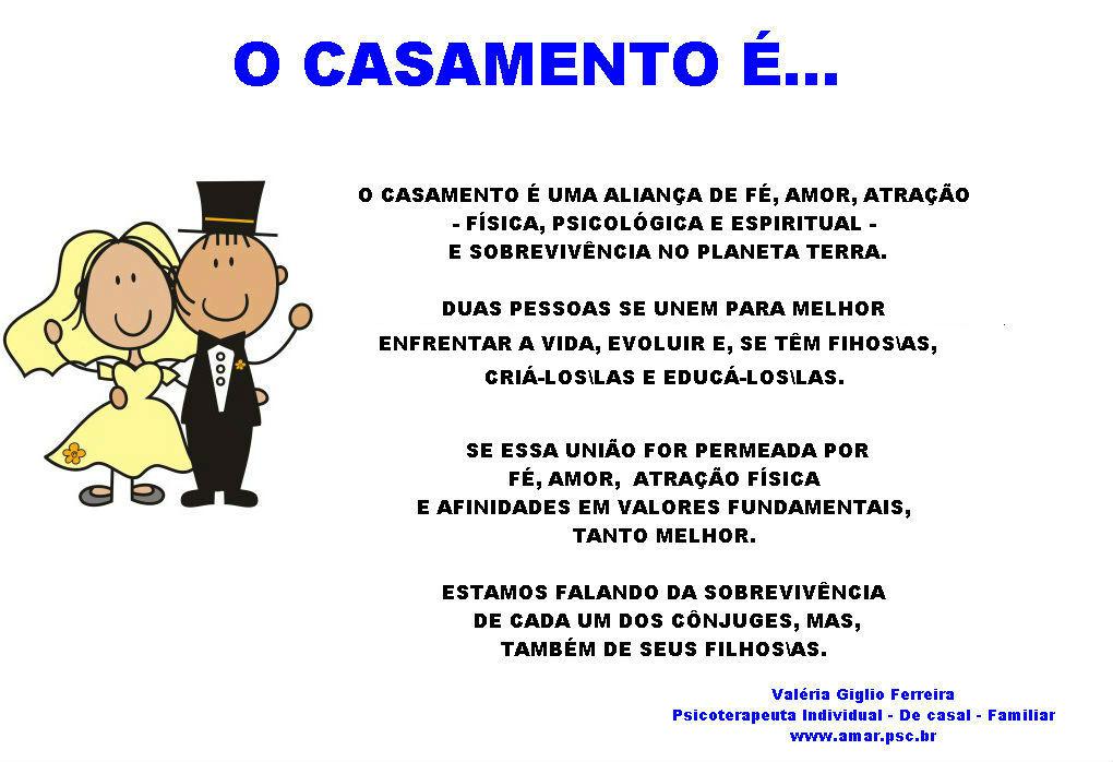 CASAMENTO É...