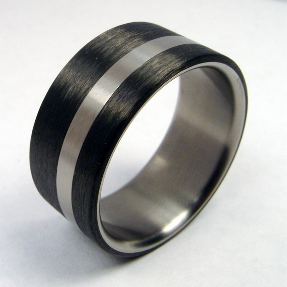 And Carbon Fiber Ring By Zoeanddoyle On Etsy