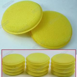 Soft Polish Wax Foam Sponges Pads Yellow Clean Car Vehicle Glasses12pcs EP98