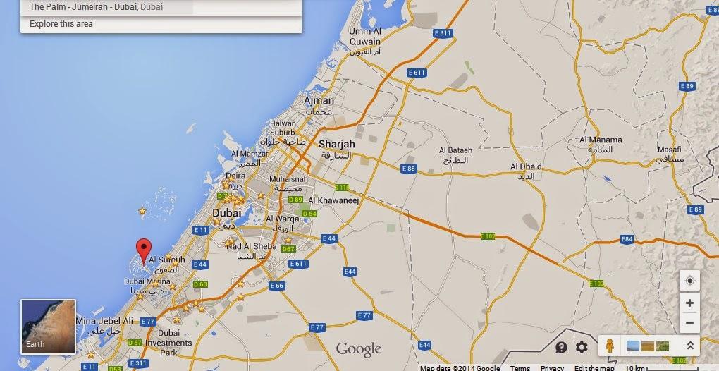 Dubai Location Map My blog