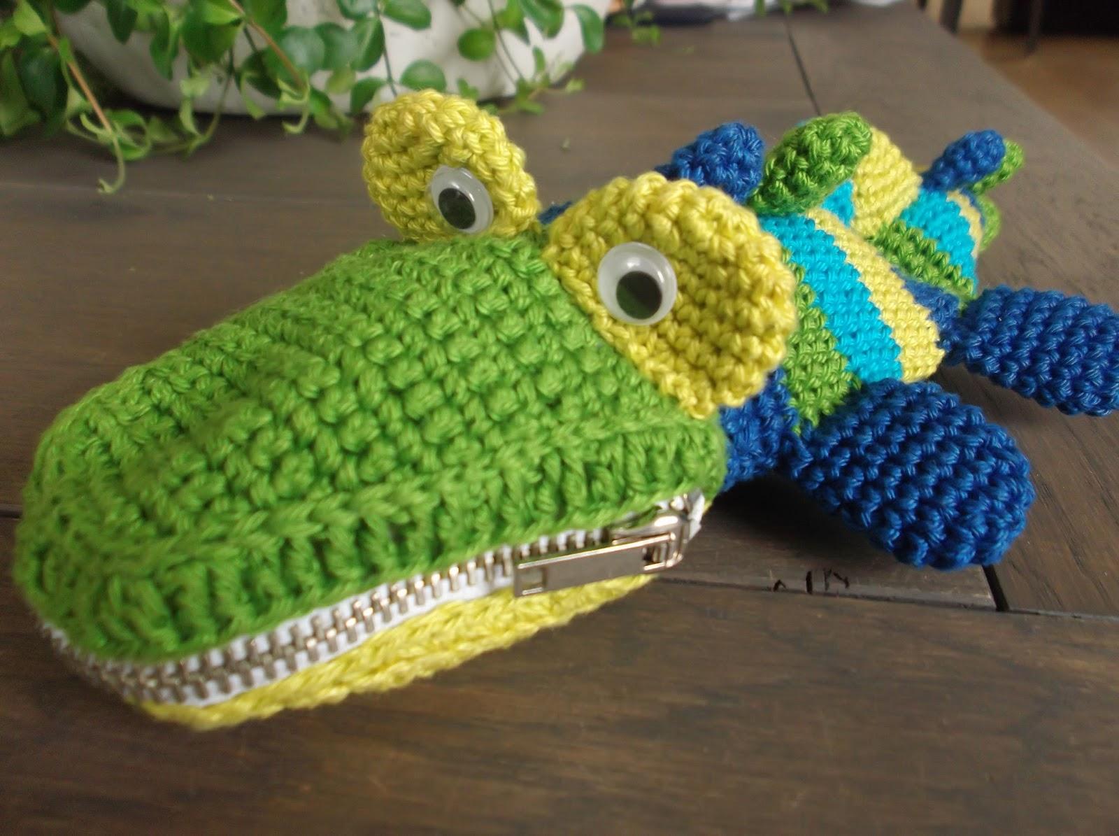 Haakydee Gehaakte Krokodil Etui