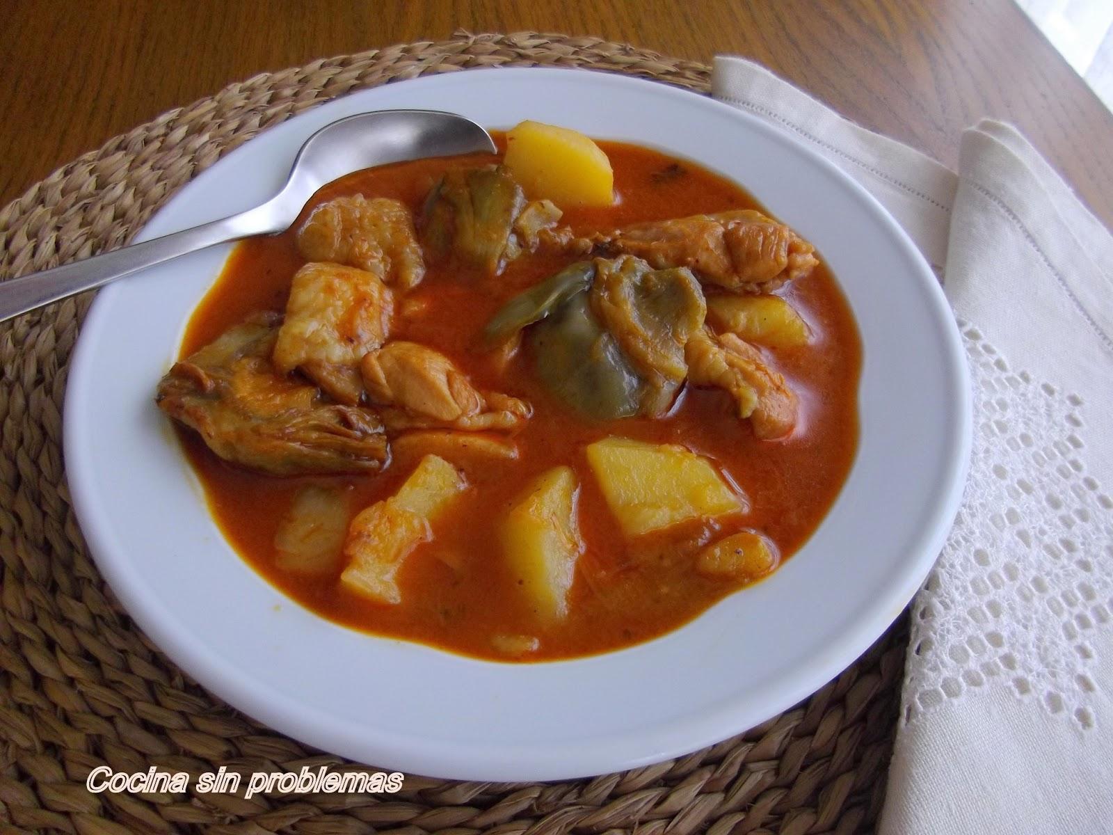 Cocina sin problemas guisado de pollo - Pollo de corral guisado ...