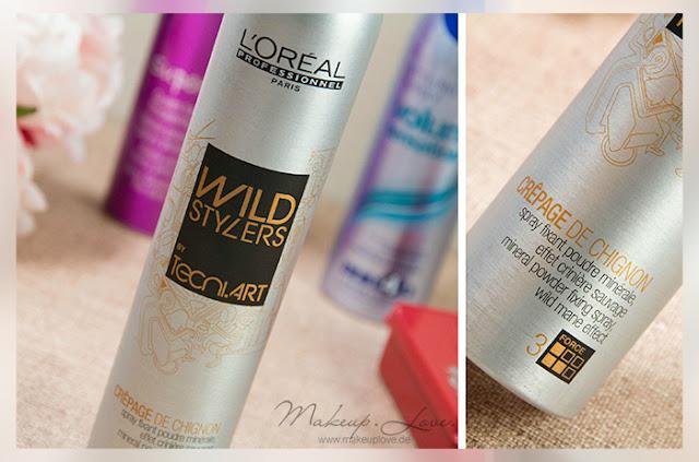 Styling Haarspray Haarpaste Volumenspray Volumen feines dünnes Haar L'oreal wild Stylers crepage de Chignon