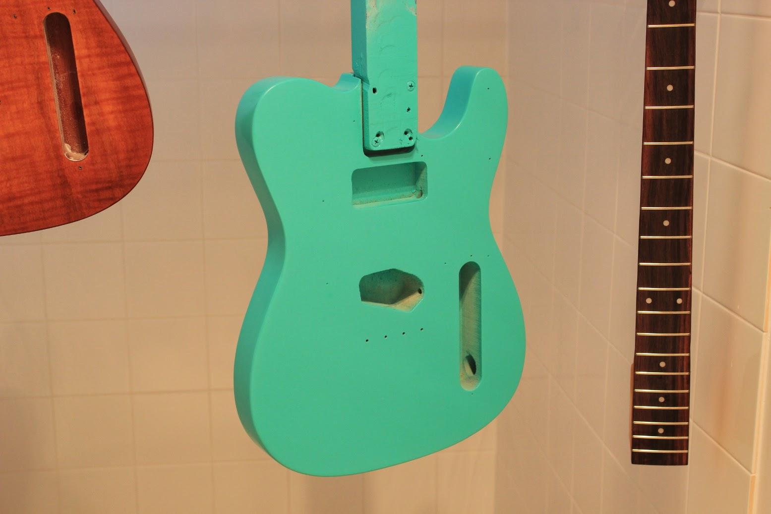 guitar kit builder surf monster telecaster paint going on. Black Bedroom Furniture Sets. Home Design Ideas