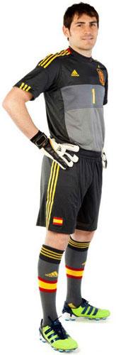 segunda equipación portero selección española Eurocopa 2012