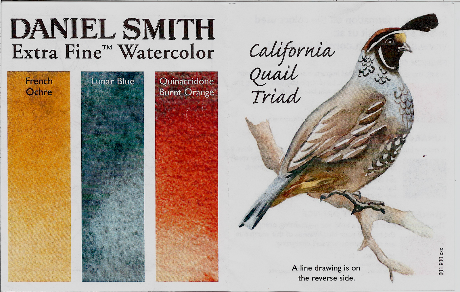 review daniel smith california quail watercolor triad