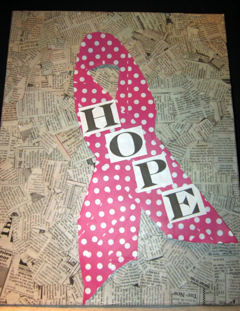 Breast Cancer Awareness Ribbon of Hope by The Shady Porch