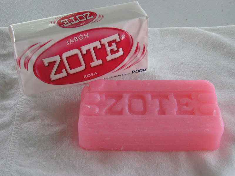 Homemade laundry soap with zote