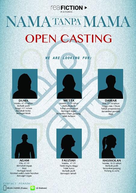 "Casting call Film Update ""Nama Tanpa Mama"""