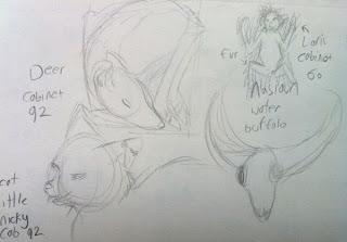 Sketchbook - Grant Museum of Zoology Field Trip London - Arts Award Bronze Level Art Portfolio Ideas