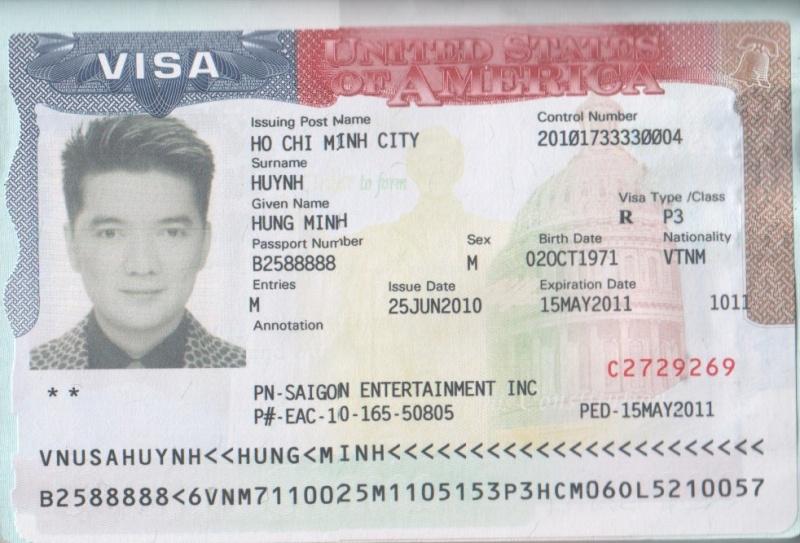 Visa Ca sĩ Đàm Vĩnh Hưng