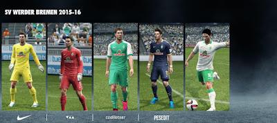 PES 2013 SV Werder Bremen 2015-16 Kits by Codiletser