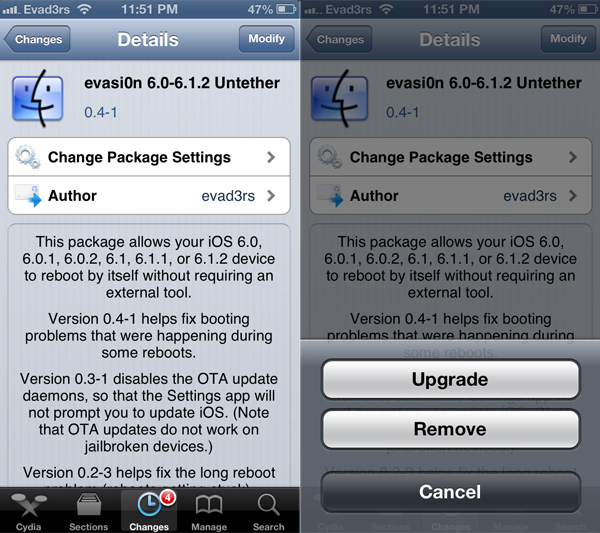 iOS 6.1.2 Jailbreak Untethered. Fixed boot-up time of jailbroken ...