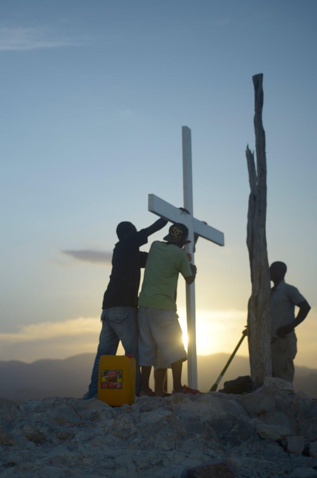 The cross on prayer mountain
