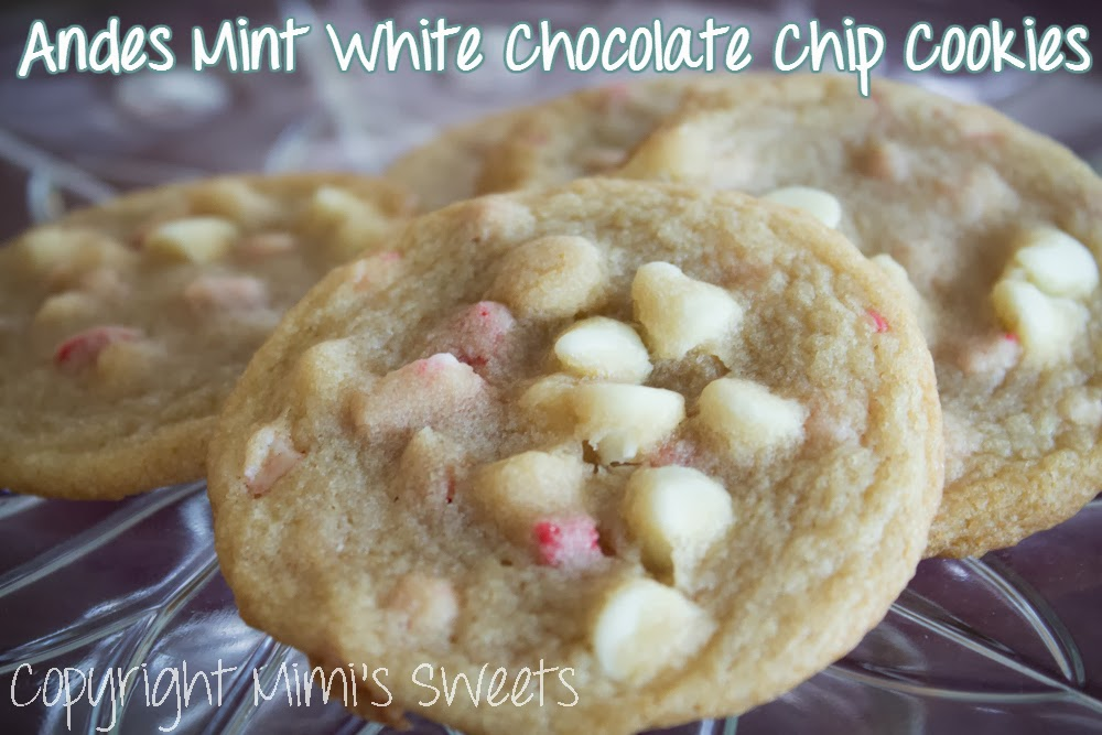 Beachy Christmas in July: Andes Mint White Chocolate Chip Cookies
