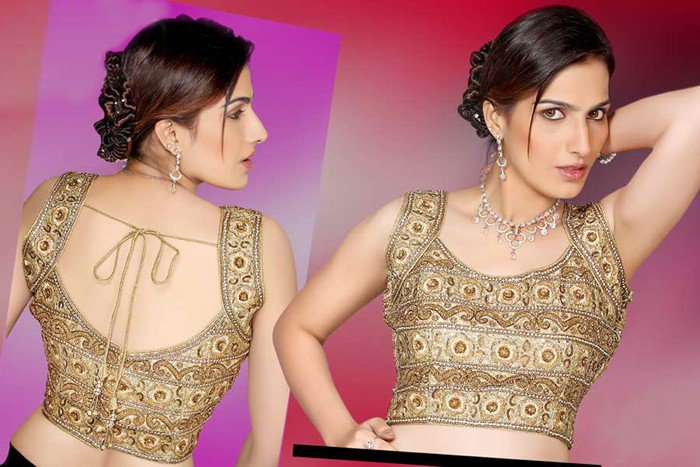 blouse neck designs for pattu sarees
