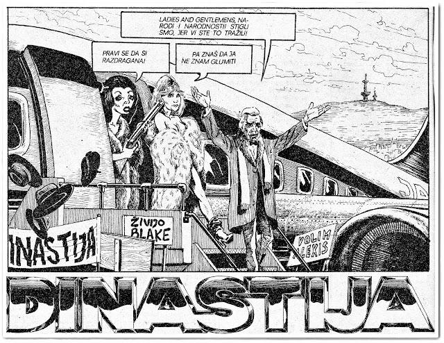 Dinastija tv serija strip novogodišnji nova godina osamdesete