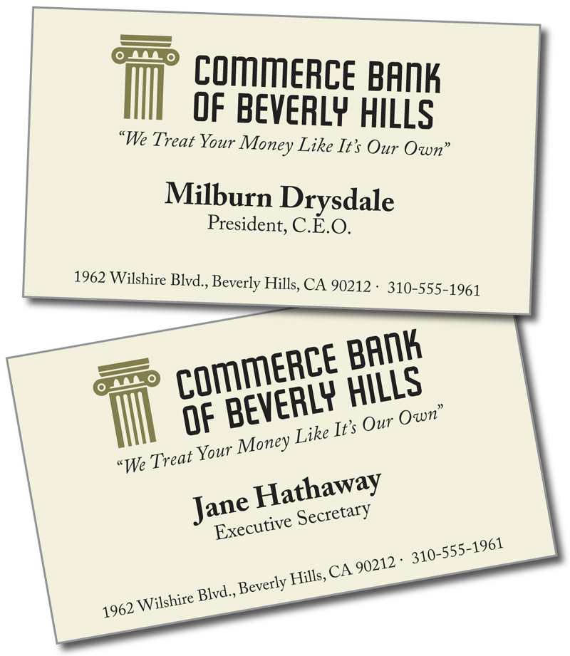 Bob Canada\'s BlogWorld: Famous Business Cards