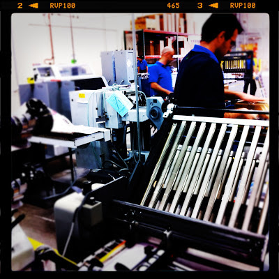 bindery warehouse of online printer GotPrint