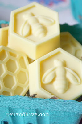 soap with bee emblem