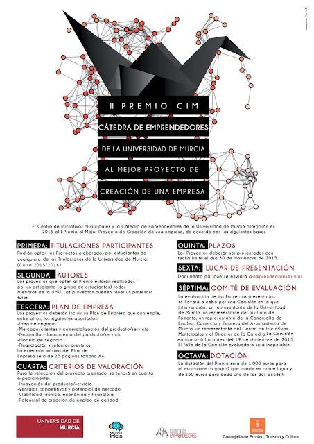 II Premio CIM, al mejor proyecto de creación de una empresa de la Cátedra de Emprendedores.