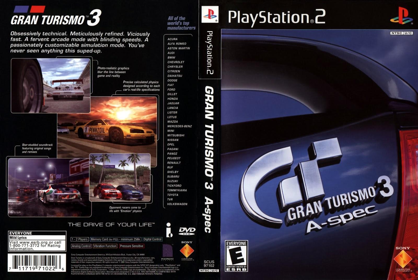 Gran Turismo 3 A Spec Playstation 2 Ultra Capas