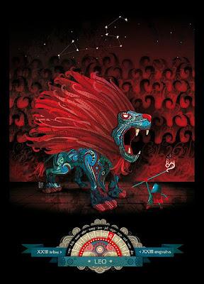 Caricatura de Leon Peli-rojo - leo