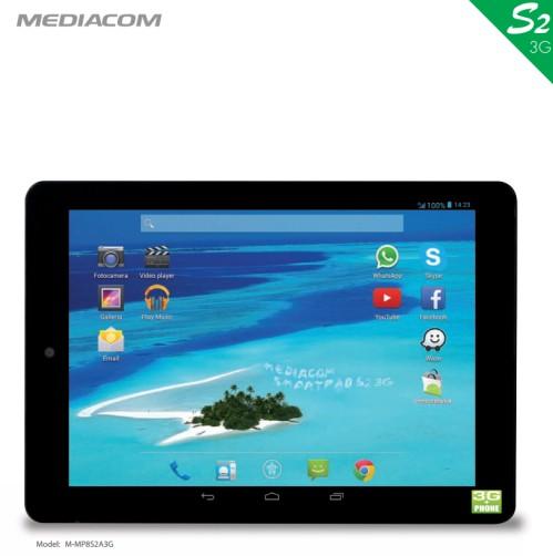Nuovo tablet 3g con telefonate da 8 pollici della serie Smartpad S2 di Mediacom