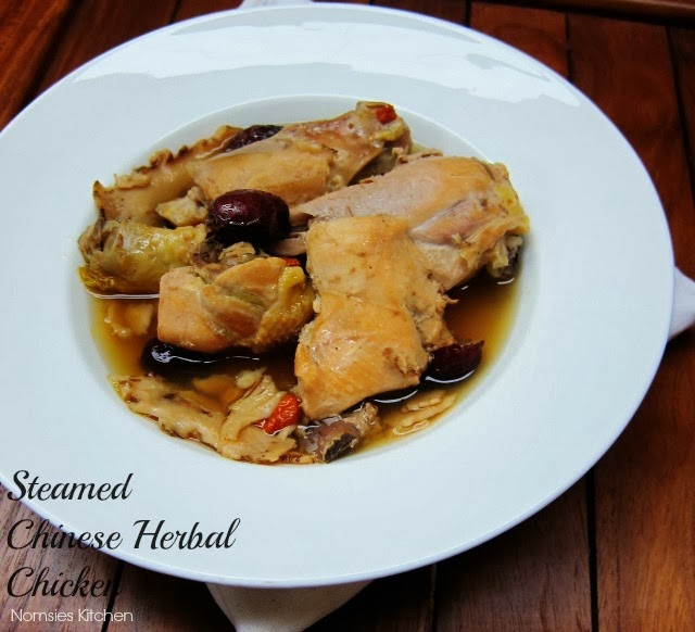 Steamed Chinese Herbal Chicken from Nomsies Kitchen
