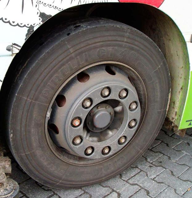 У автобуса загорелось колесо Сергиев Посад