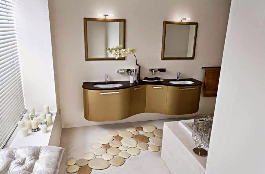 kamar mandi unik, cermin menarik