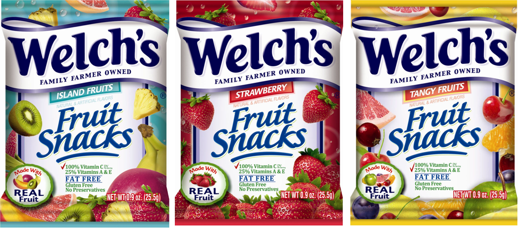 Welch s also offers low fat and gluten free fruit n yogurt snacks in