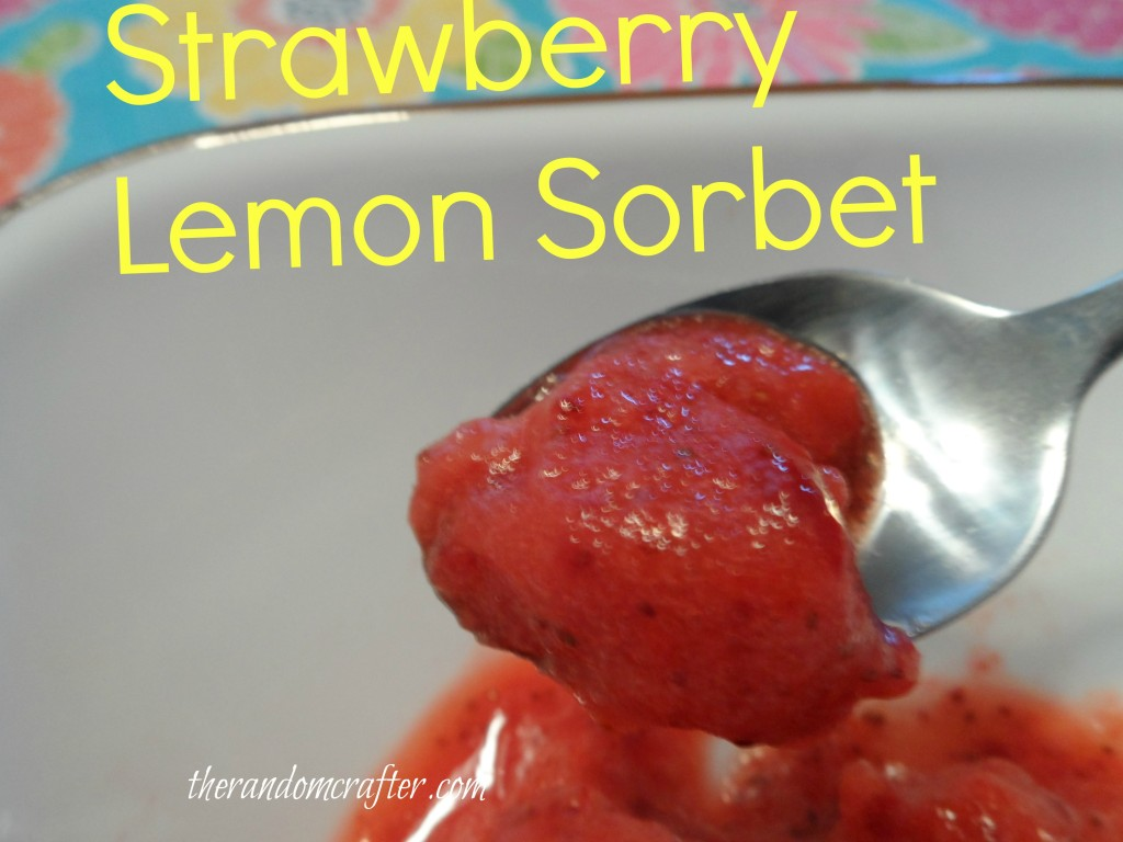 Strawberry Lemon Sorbet by the Random Crafter