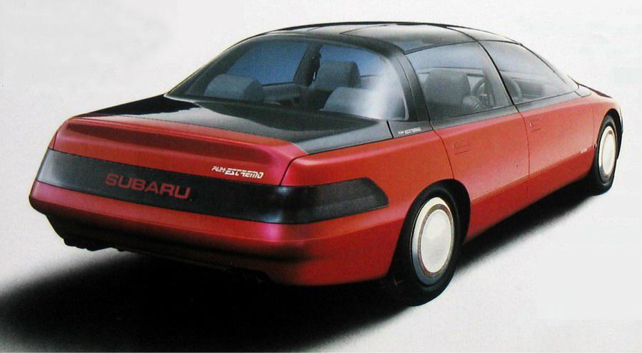 Subaru F624 Estremo, japoński koncept, sportowy sedan, 1987, boxer, 日本車, スバル